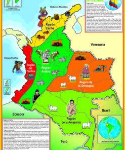 Mapa De Colombia - Regiones