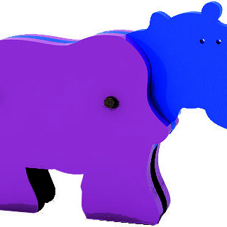 Animal Desarmable Hipopótamo