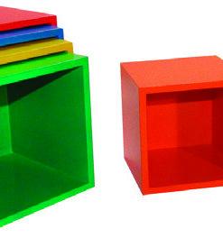 Cubo De Encaje Secuencia De Tamaño y Color