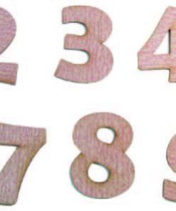 Números En Lija Del 0 Al 9