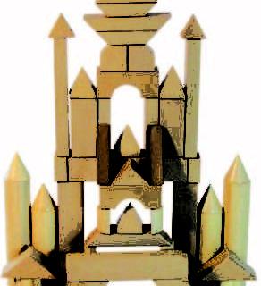Bloques De Construcción Por 50 Piezas.Natural